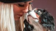 Echte Liebe: Die Amerikanerin Lindsey Vonn und ihr Liebling Lucy.
