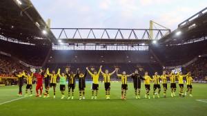 Dortmund siegt auch ohne Südtribüne