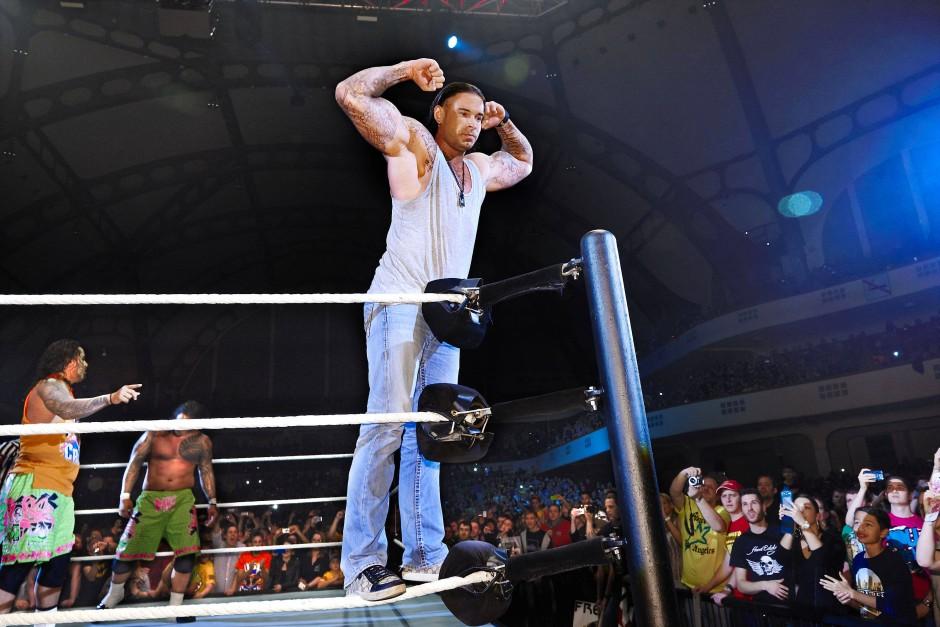 Im Ring durfte er sich schon einmal den Fans zeigen.