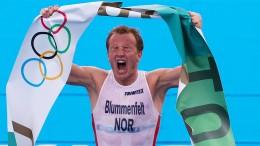 Triathlon-Gold mit Ansage