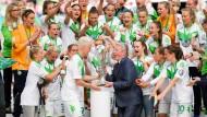 Glücklicher Pokalsieg für Wolfsburg