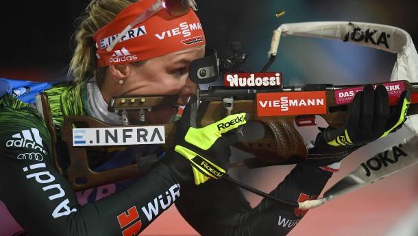 Frühere Langläuferin gewinnt Biathlon-Weltcup