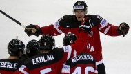 Kanadas Patrick Wiercioch jubelt über seinen Treffer gegen Schweden.