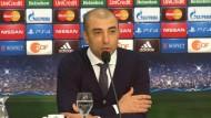 Pressekonferenz nach Champions League-Spiel