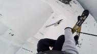 Ski-Extremsprung in die Höhe