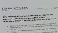 Bundesliga-Vereine kassieren Rekordsumme für TV-Rechte