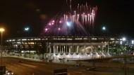 Licht und Schatten bei Olympia-Eröffnungstest