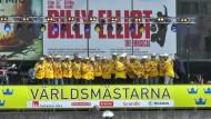 Weltmeister Schweden umjubelt empfangen