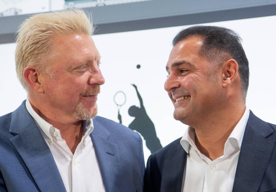 """Becker mit Investor Khaled Ezzedine: """"Für mich ist nicht der Pass entscheidend, sondern die Leidenschaft der Jugendlichen."""""""