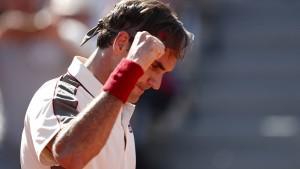 Federer gewinnt das Jubiläumsspiel