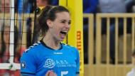 Publikumsliebling, Topscorer und eigentlich eine Frohnatur: Karine Muijlwijk kann sich nicht mehr leisten, Volleyball zu spielen