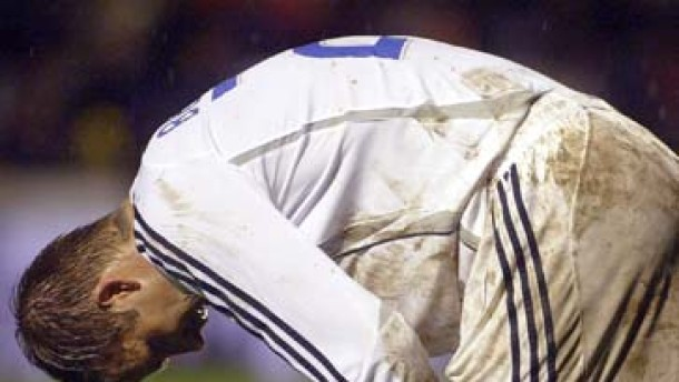 Real spielt mit Beckham nur 1:1