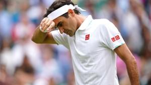 Roger Federer in Wimbledon krachend gescheitert