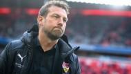 Unklare Zukunft: Wie lange Markus Weinzierl noch Trainer beim VfB Stuttgart bleiben wird, ist offen.