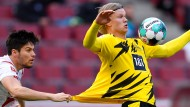Seine Treffer reichten nicht: Erling Haaland und die Borussia können gegen Köln nicht gewinnen.