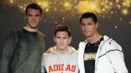 Die Drei vor der Wahl: Neuer und Messi gingen leer aus, Ronaldo (rechts) sahnte ab
