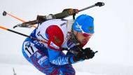 Kein Wunschsieger in Oberhof: Alexander Loginow genießt einen schlechten Ruf in der Skijägerszene.