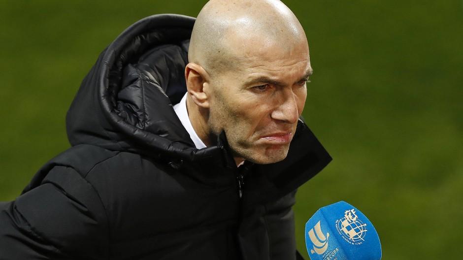 Trainer Zidane redet die Niederlage klein: Das ist keine Blamage oder so.