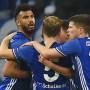 Schalke 04 bejubelt die Führung im Rückspiel gegen Saloniki