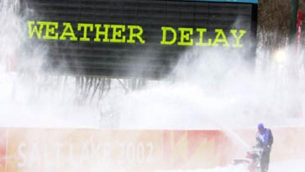 Schneesturm in Park City wirft den Zeitplan um