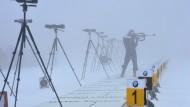 Die Biathleten in Oberhof hatten Mühe, den Durchblick zu wahren