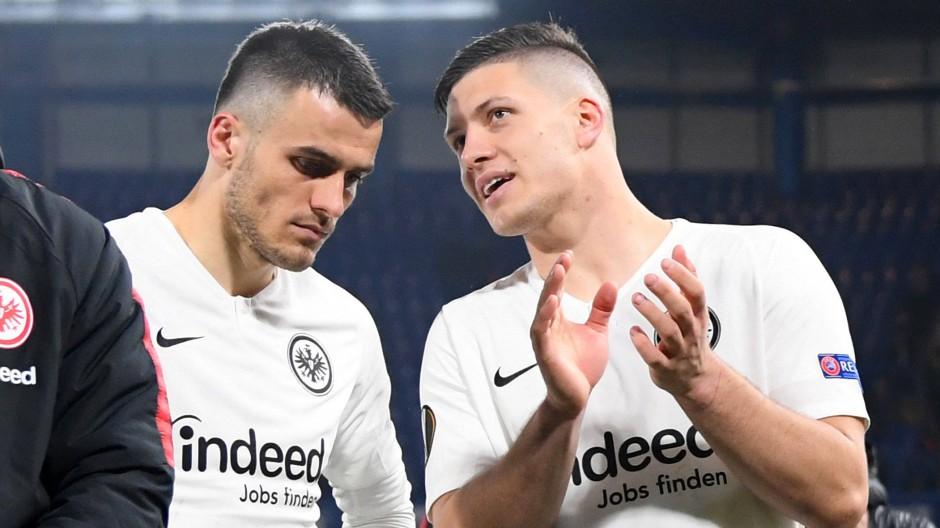 London, Madrid, Frankfurt: Eintracht-Rückkehrer Jovic (rechts) wird seinem Landsmann Kostic einiges erzählen können.