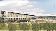 So soll die DFB-Akademie in Frankfurt aussehen