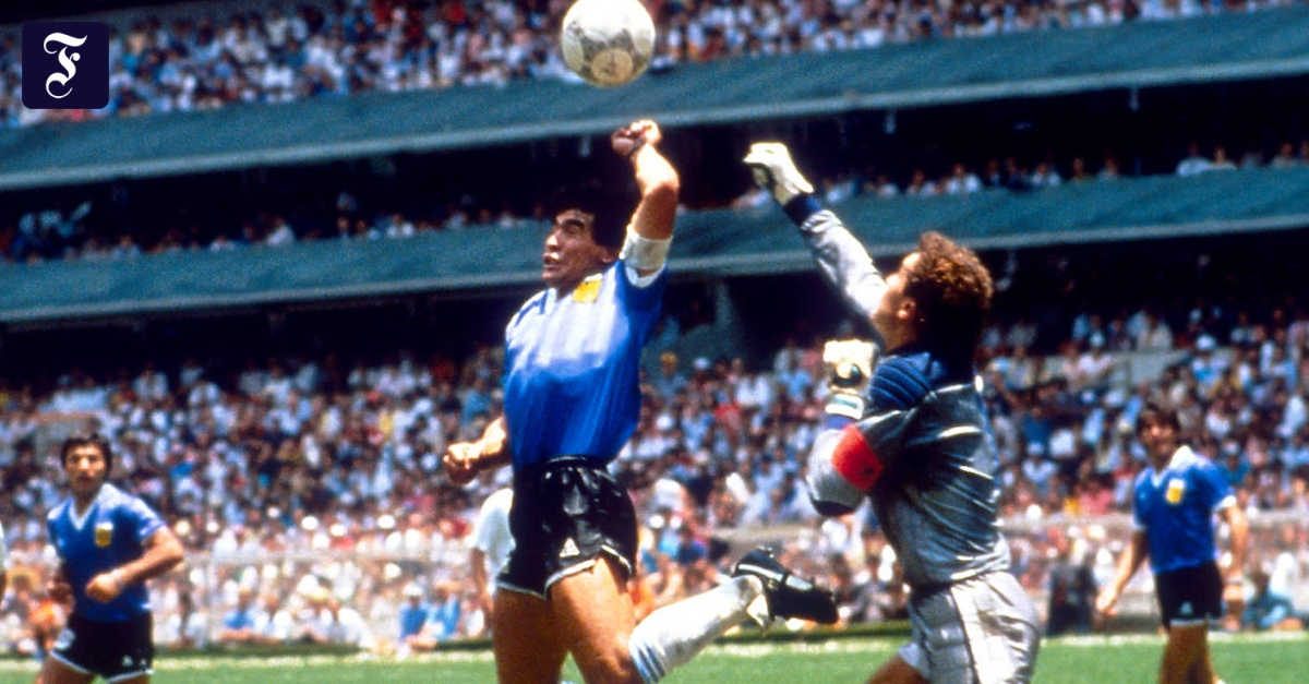 Maradona Hand Gottes