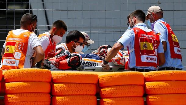 MotoGP-Star Marquez bei Sturz verletzt