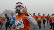 Marathon mit Gasmaske