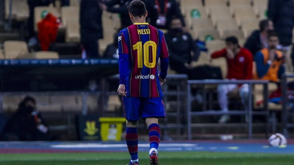 Unrühmlicher Abgang: Messi sah erstmals Rot beim FC Barcelona.