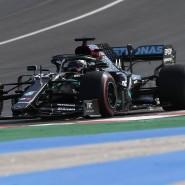 Ungefährdet: Lewis Hamilton im Mercedes.