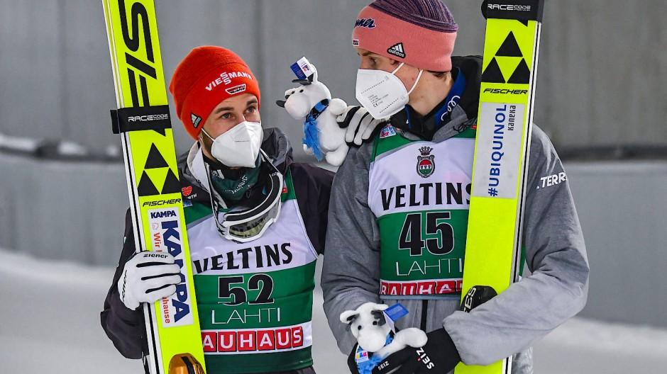 Wieder auf Erfolgskurs: Eisenbichler (links) und Geiger