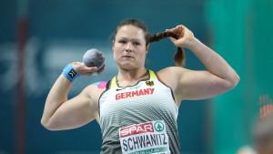 Kugelstoßerin Schwanitz holt Bronze