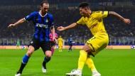 Versuchte alles gegen Inter, am Ende jedoch erfolglos: BVB-Profi Jadon Sancho (rechts)