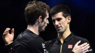 Zwei, die sich verstehen: Andy Murray (links) und Novak Djokovic
