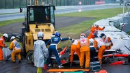 Jules Bianchi krachte mit seinem Auto in den Kranwagen