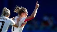 Das ersehnte Tor: Alexandra Popp trifft gegen Südafrika.
