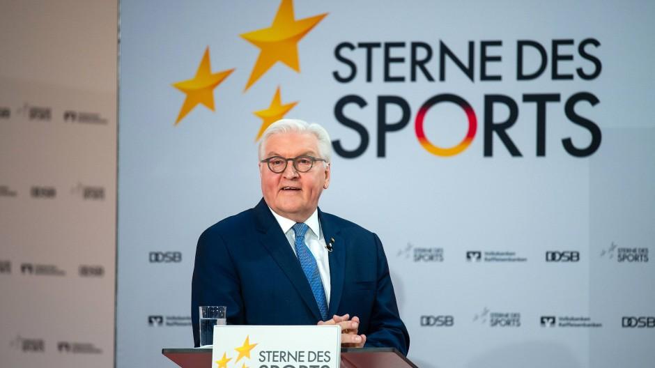 Bundespräsident Frank-Walter Steinmeier bei der Verleihung der Sterne des Sports