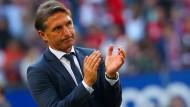 Sein Team lieferte gegen Bayern eine passable Vorstellung - dennoch ist Labbadias Zukunft in Hamburg ungewiss