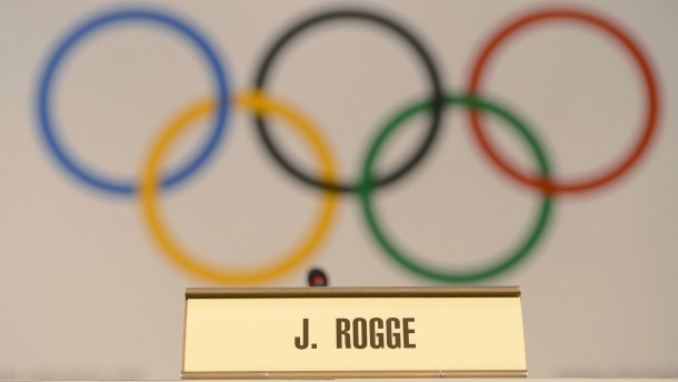 Pressekonferenz IOC-Präsident Jacques Rogge