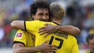 Es geht wieder los: Auch Mats Hummels (links) und Erling Haaland starten mit Borussia Dortmund in die neue Saison.