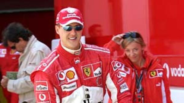 Schumacher hinter Räikkönen und Alonso
