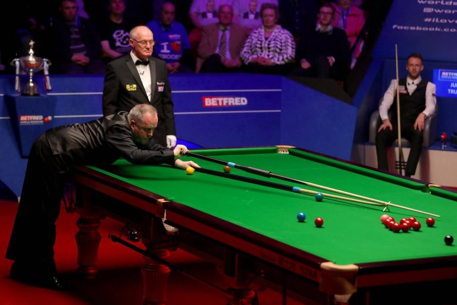 Gibt es noch ein Comeback? John Higgins hat seine Schwierigkeiten.