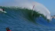Große Wellen und schlimme Stürze