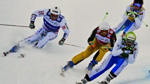 """Andreas Schauer (2.v.l.) beim Skicross: """"Jeder kämpft um jeden Zentimeter"""""""