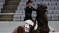 Das Pferd wollte nicht, Annika Schleu verzweifelt.
