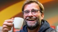 """""""Entschuldigung – ich konnte nicht zu Hause bleiben"""": Liverpool-Trainer Jürgen Klopp."""