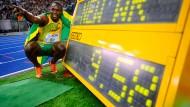 Usain Bolt lief vor zehn Jahren die 100 Meter in 9:58 Sekunden.