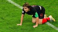 Luka Modric war müde, kämpfte sich aber durch.